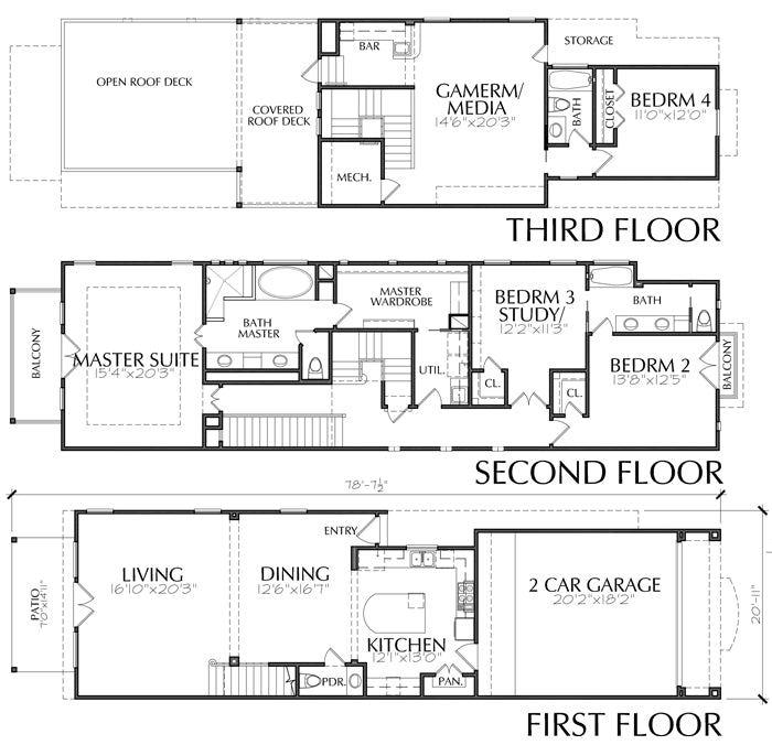 Townhouse Plan E0105 A3