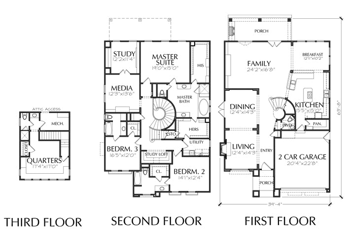 Two Story House Plan D7008