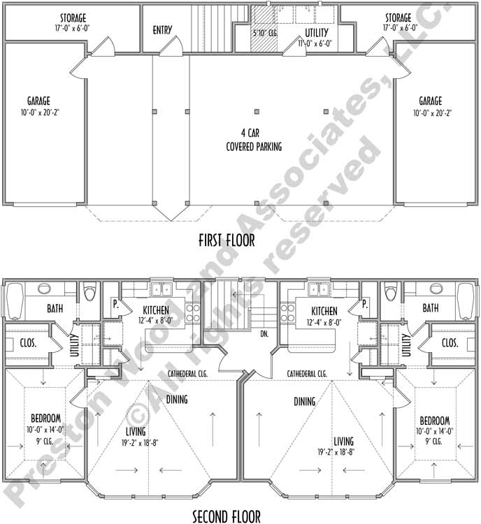 Urban House Plan C7310