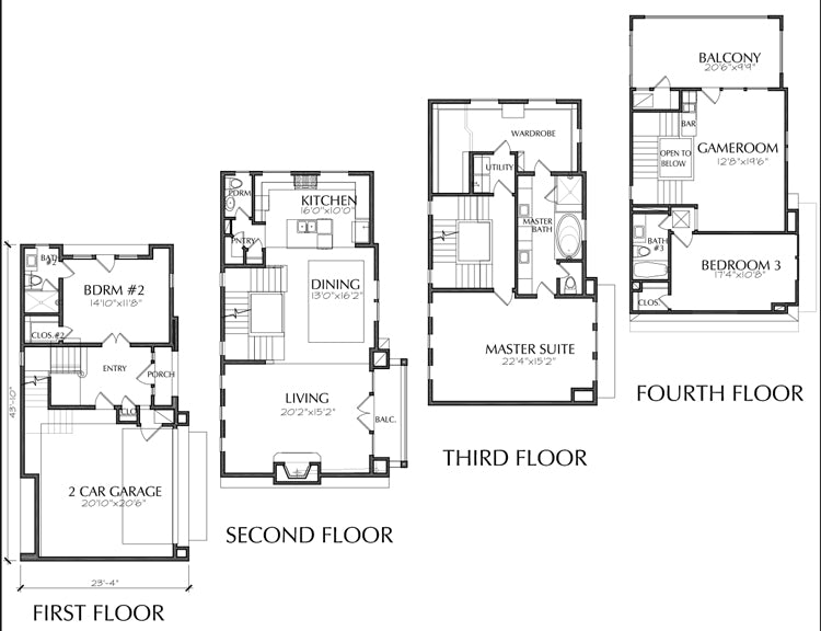 Townhouse Plan E3026 B1.1R