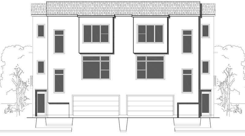 Duplex Townhouse Plan E3372 A1.1