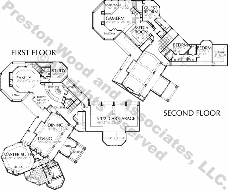 Two Story House Plan C7014