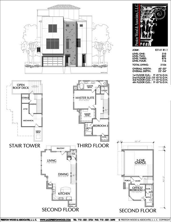 Townhouse Plan E2141 B1.1