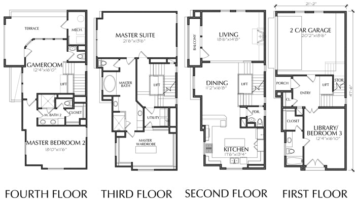 Townhouse Plan E3177 A1.2