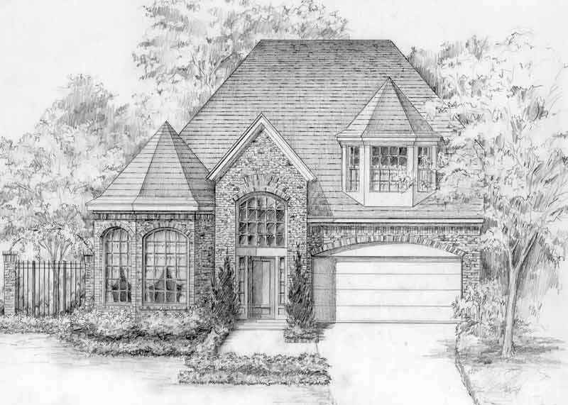 Eclectic Style House Plan C5287 B