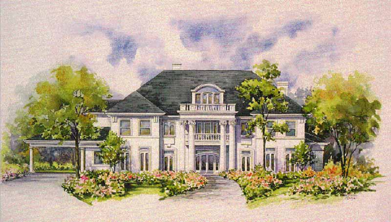 Colonial Home Plan C2104
