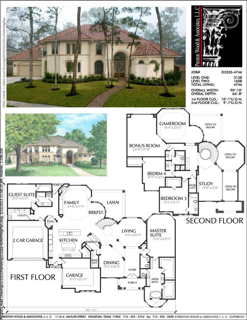 Two Story Home Plan aD3203