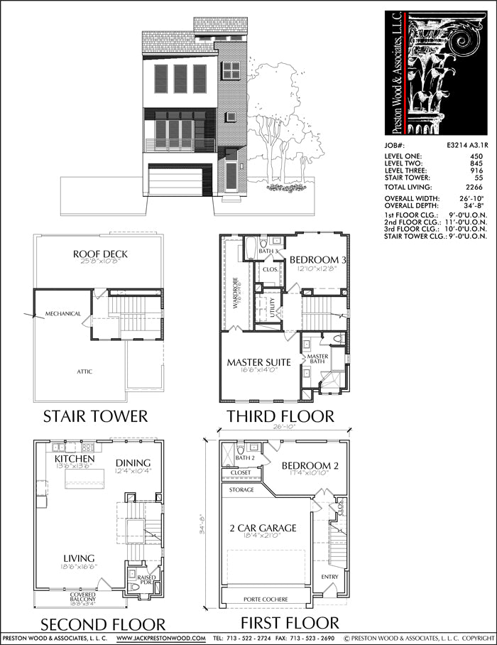 Townhouse Plan E3214 A3.1