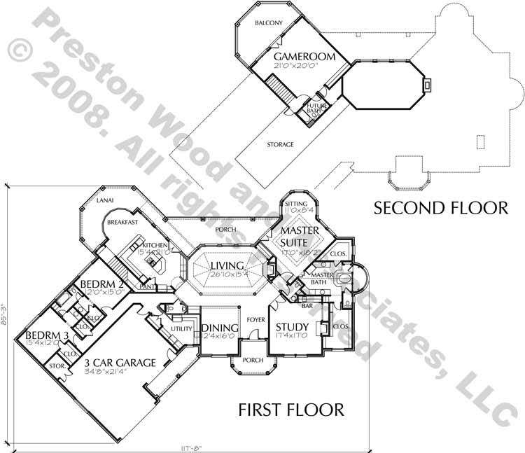 Two Story House Plan C5013