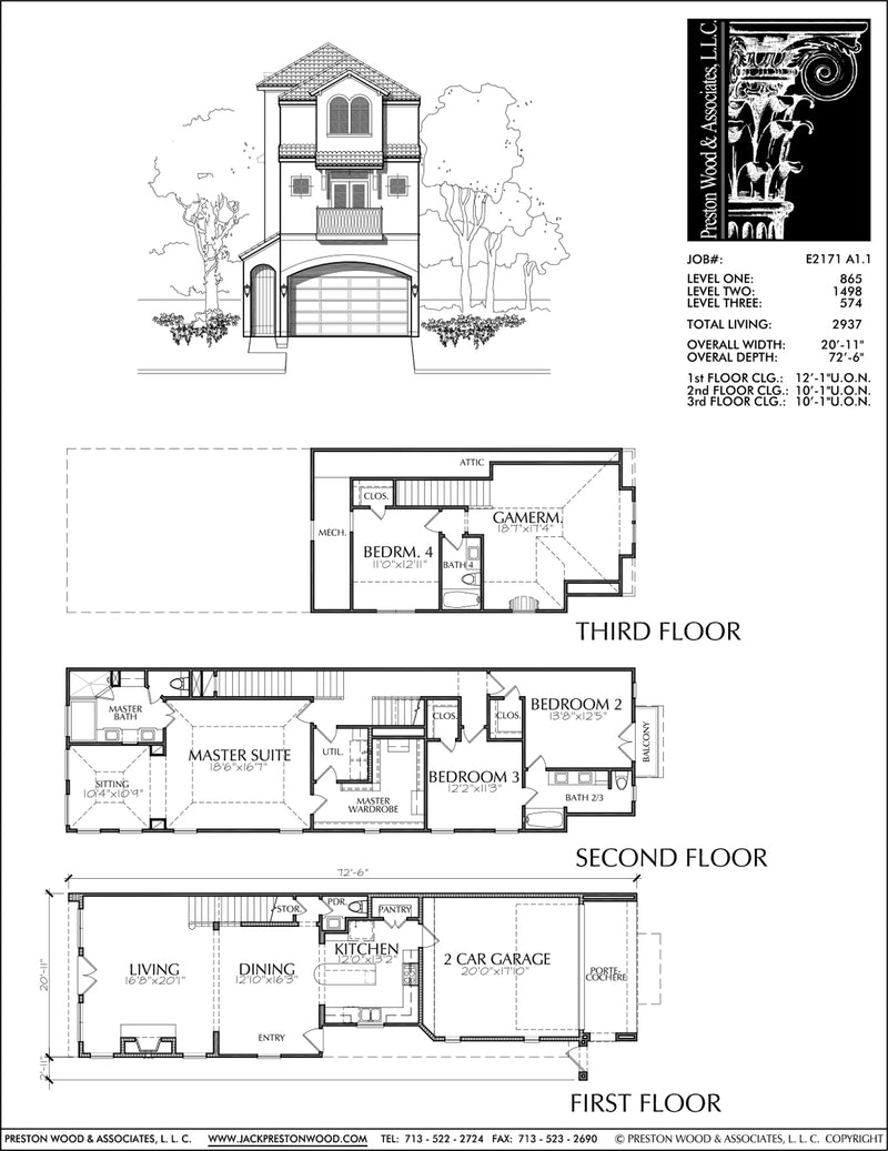 Townhouse Plan E2171 A1.1