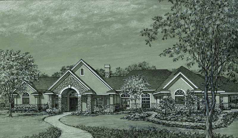 One Story Home Plan C5187