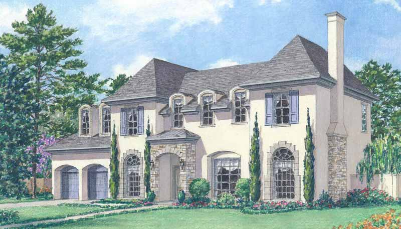 Two Story Home Plan aD7010