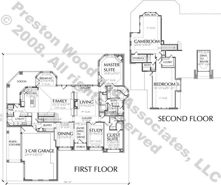 Two Story House Plan C7146