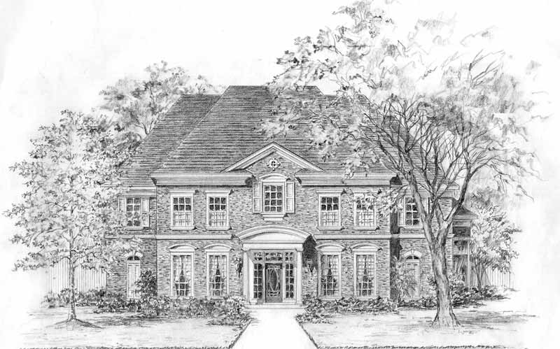 Colonial House Plan C3053
