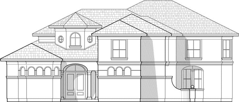 Two Story House Plan C7163
