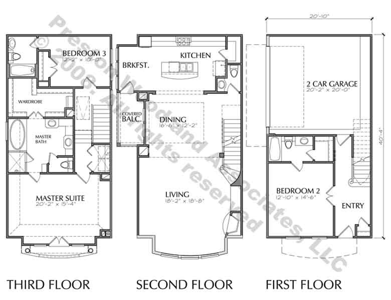 Townhouse Plan D4174-u1