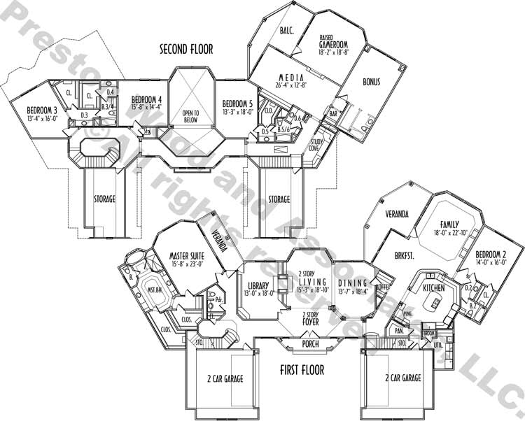 Two Story House Plan C8311