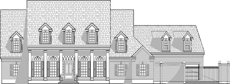 Two Story House Plan C4218