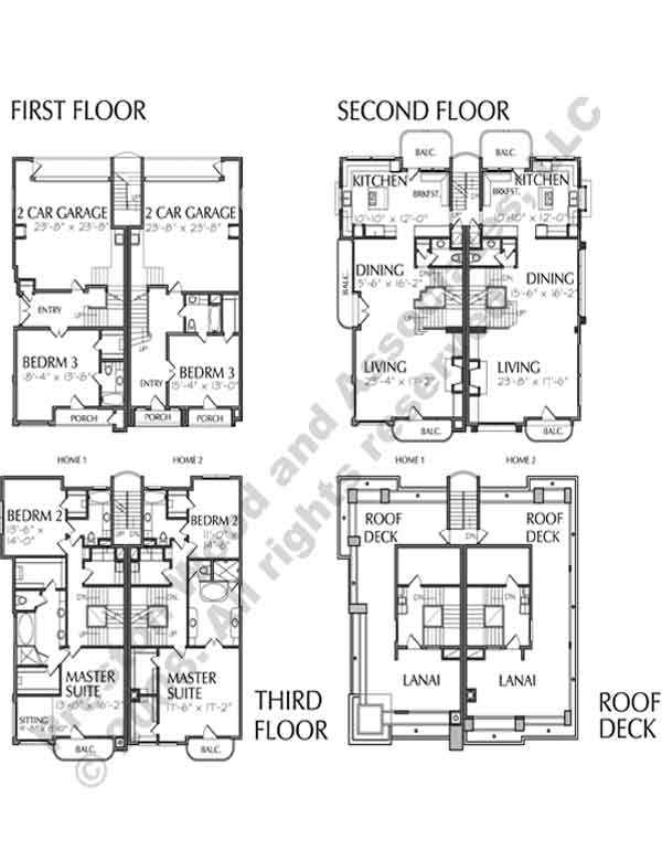 Townhouse Plan C8269