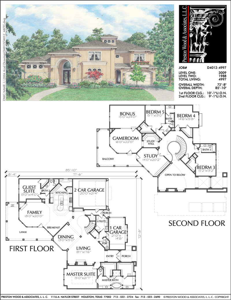 Two Story Home Plan D4012