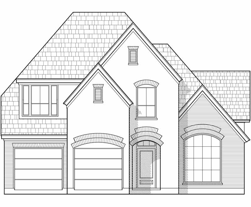 Two Story House Plan D3086