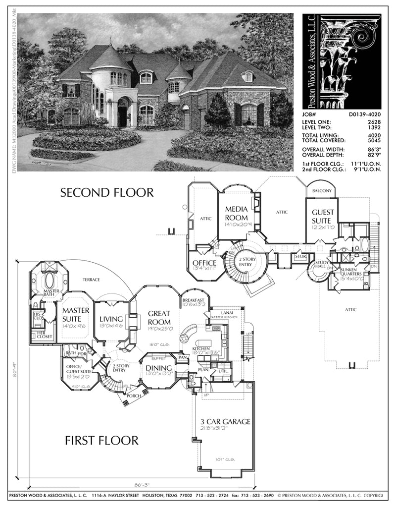 Two Story House Plan D0139