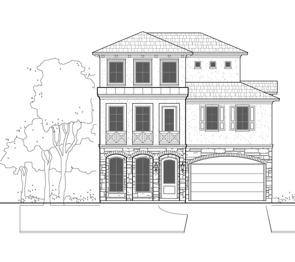 Two Story House Plan E2089