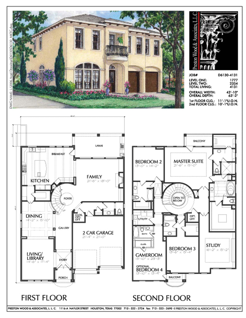 Urban House Plan D6130