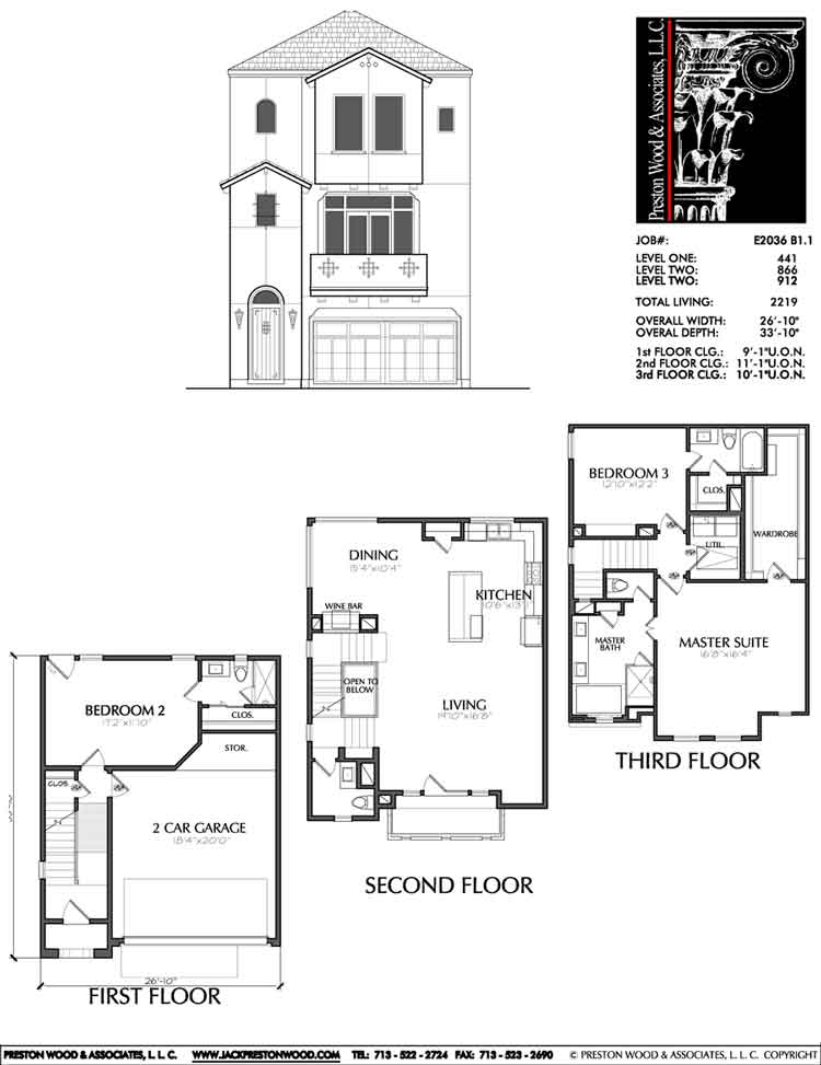 Townhouse Plan E2036 B1.1L