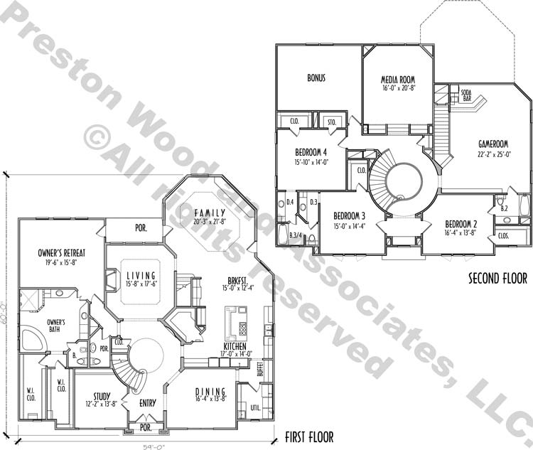 Two Story House Plan D0014