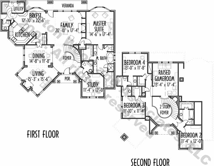 Two Story House Plan C5060