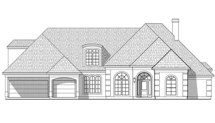 One Story House Plan C6317