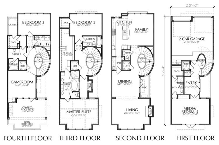 Townhouse Plan E2125