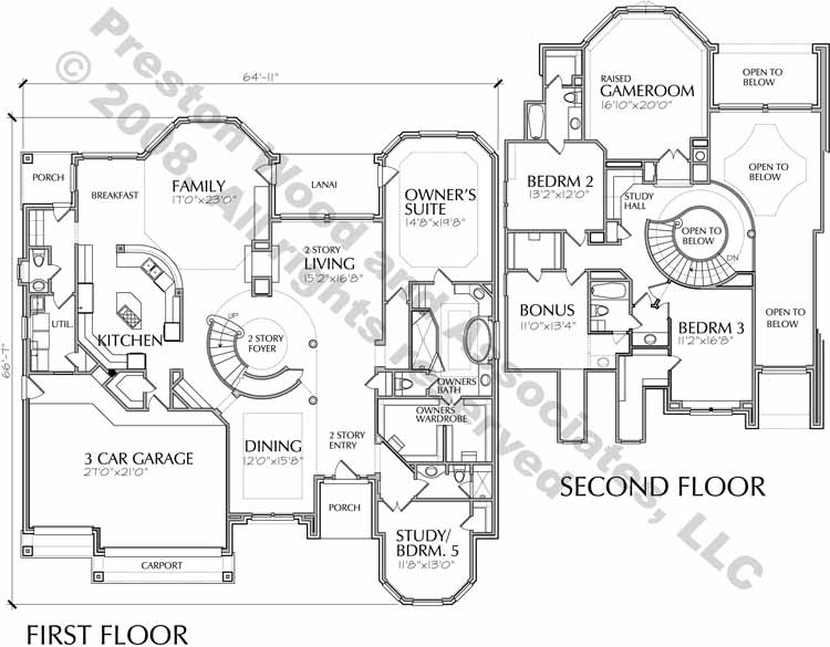 Two Story Home Plan D1178