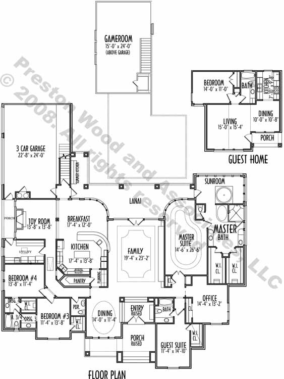 One Story House Plan C9027