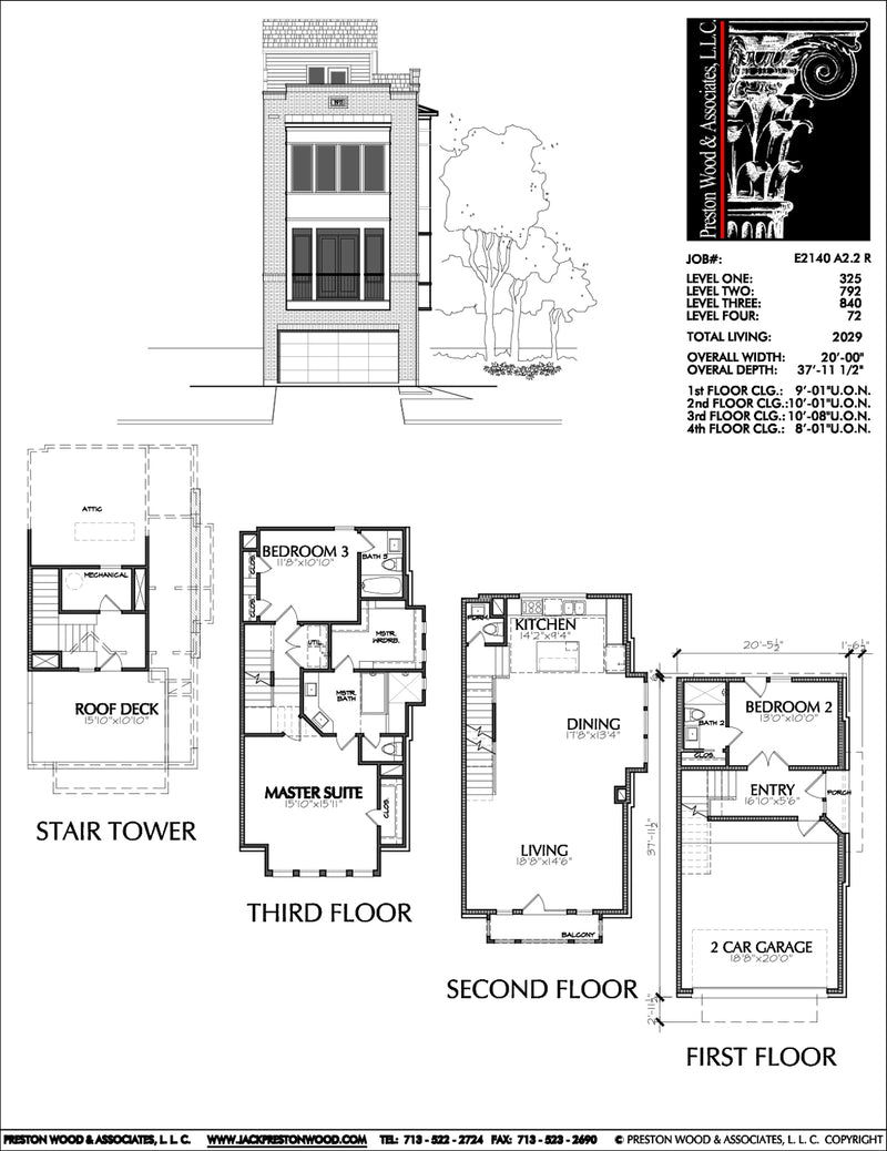 Townhouse Plan E2140 A2.2R