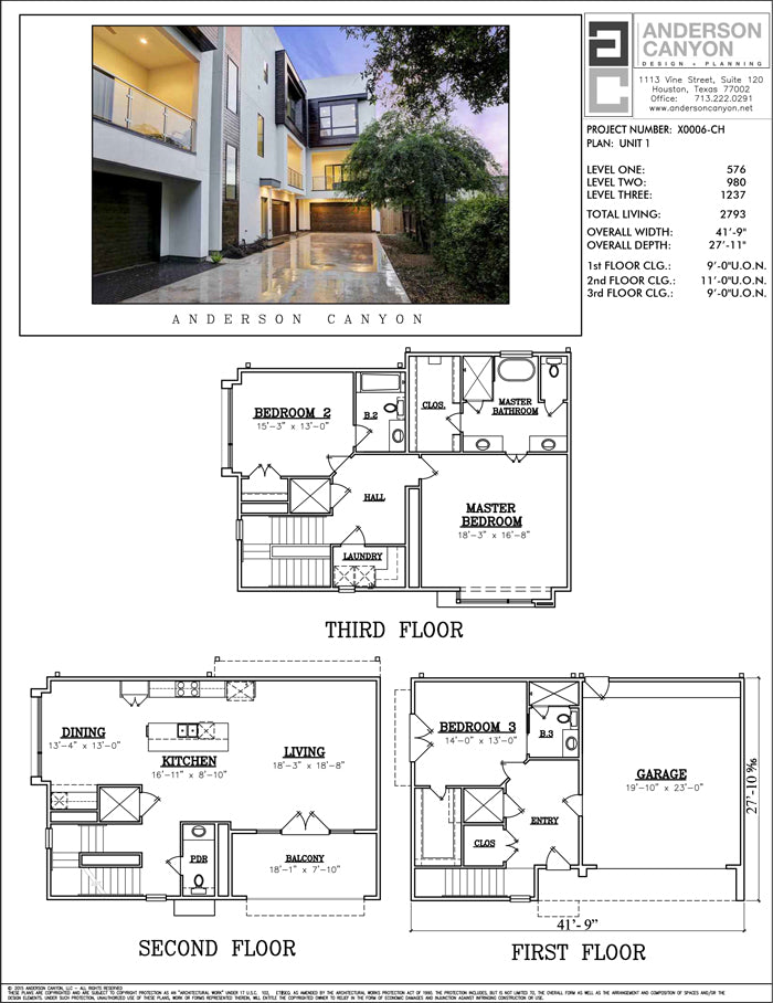 Townhouse Plan X0006-U1