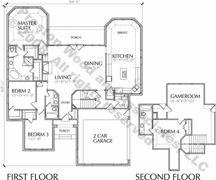 One Story Home Plan C7011 A