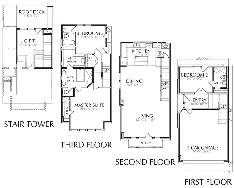 Townhouse Plan E2140 A1.1