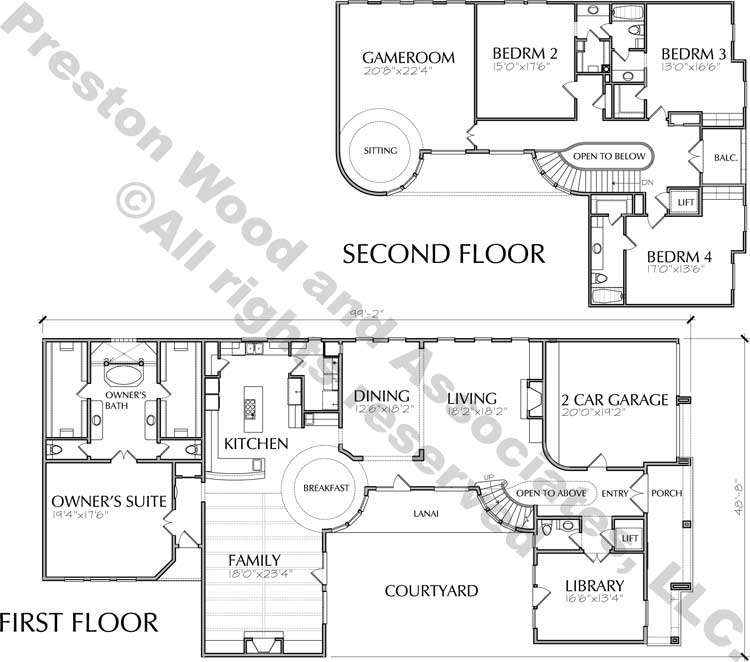 Two Story House Plan D1083