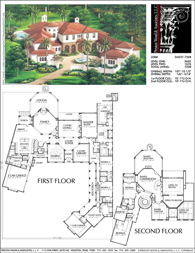 Two Story House Plan D4237