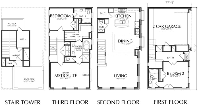 Townhouse Plan D7094 D