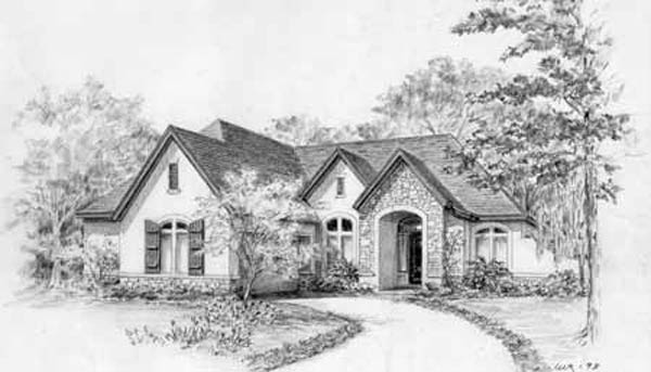 Country Style House Plan C7155