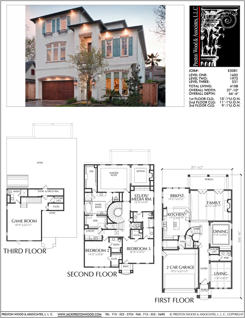 Two Story House Plan E3081