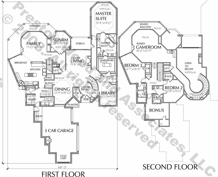 Two Story House Plan C6186