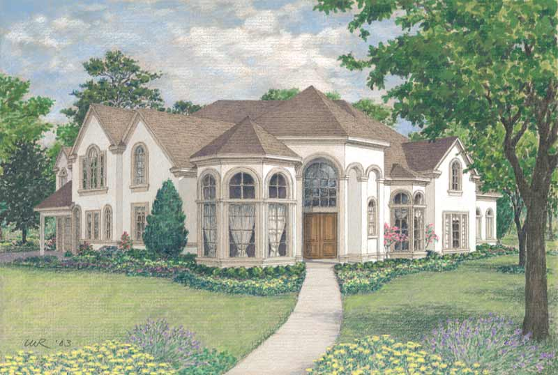 Two Story Home Plan D0116
