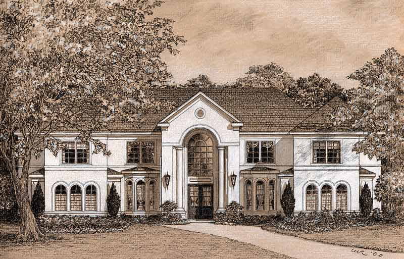 Traditional Style House Plan C9303