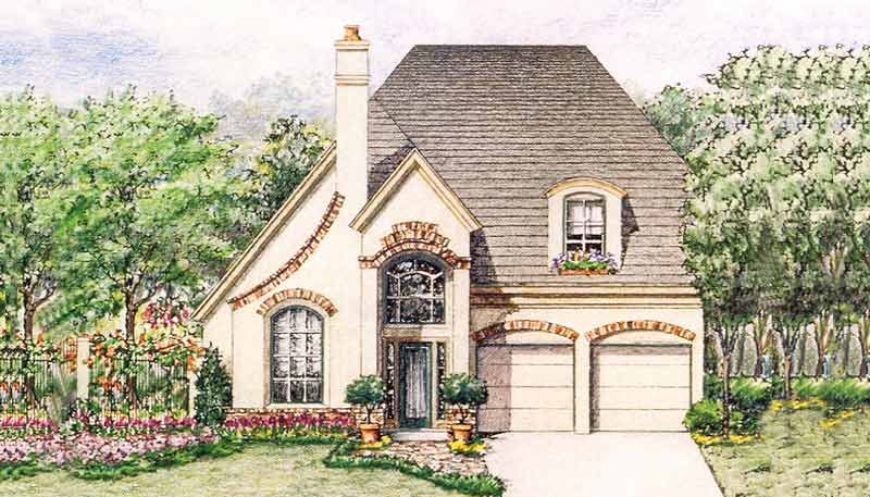 Country Style Home Plan C5287 A