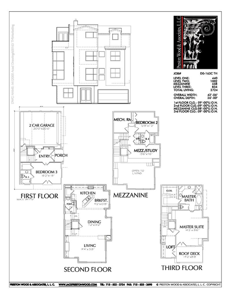 Townhouse Plan D0163 C
