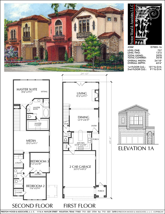 Modern Townhouse Design, Brick Row House, New Town Home ...